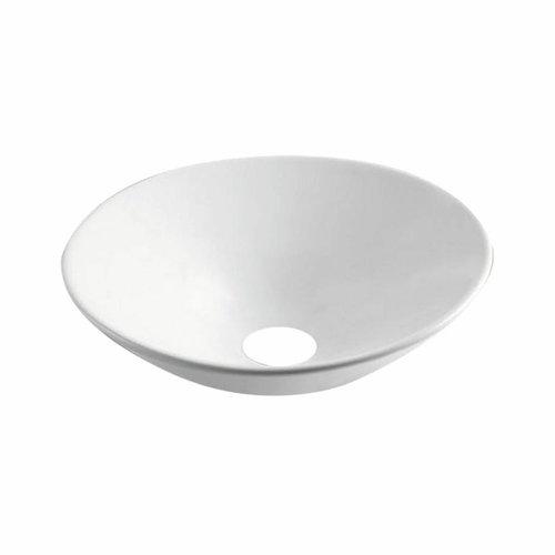 Opbouw Waskom Juno 42.5x42.5x16.5 cm Porselein Wit