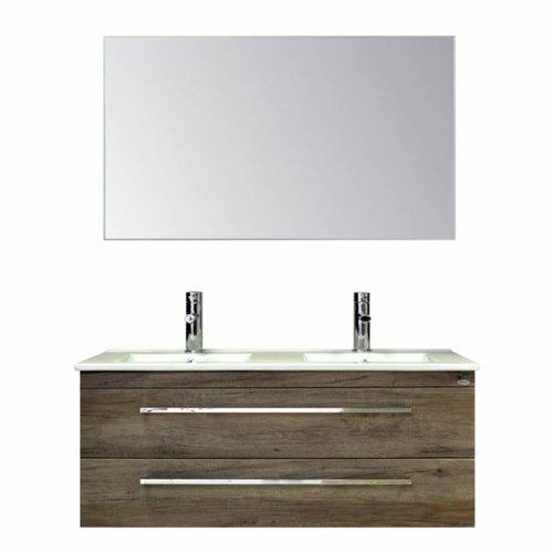 Badmeubelset Q1 120x46 cm Truffel (incl spiegel)