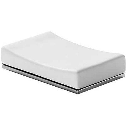 Slim Keramieken zeepbakje voor op de wastafel 20263607