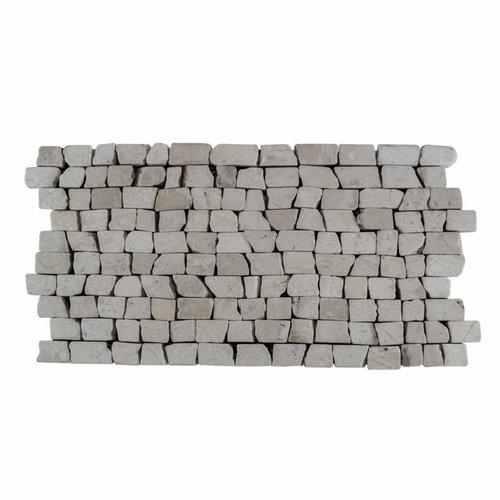 Mozaïek Brick Mosaic Cream Tumble Marmer 30X15Cm (Prijs Per 1M²)
