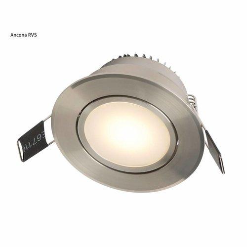 Inbouw Spotlamp Ancona Set (Rvs-17111)