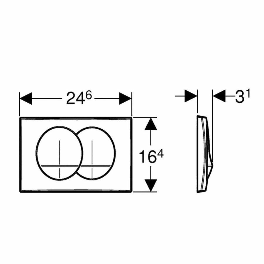 Drukplaat Delta 20 Mechanisch Frontbediening (3 Kleuren)
