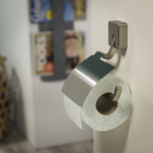 Toiletrolhouder Impuls Met Klep Rvs Geborsteld