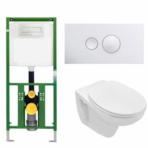 Ecoplus Toiletset 01 Basic Wandcloset Softclose Met Bril En Drukplaat