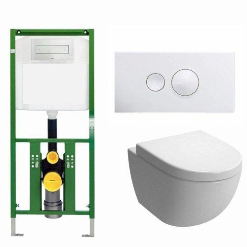 Ecoplus Toiletset 24 Aquasplash Zero Diepspoel Visign For Style 10 Drukplaat