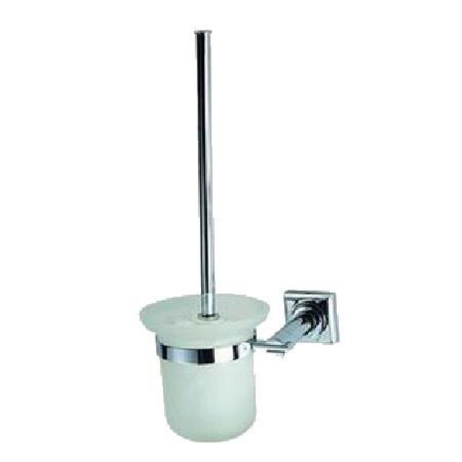 Toiletborstelhouder Viera Chroom/Glas