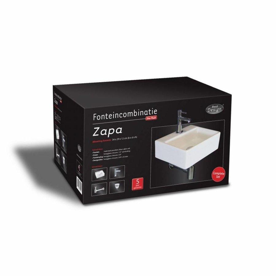 Fonteinset Zapa One Pack Rechthoek 29X34 Cm