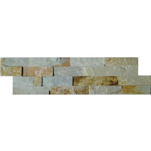 Schiste Flatface Stonepanel Beige Slate 15X60X1/2, Flatface P/Stuk