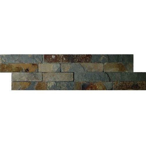 Schiste Flatface Stonepanel Rusty Slate 15X60X1/2, Breukruw P/Stuk