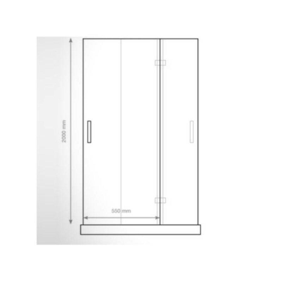 Nisdeur P&L Design Klapdeur 200X120Cm 8Mm