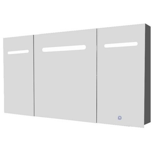 Spiegelkast Aluma Inclusief Led Verlichting 120X80Cm