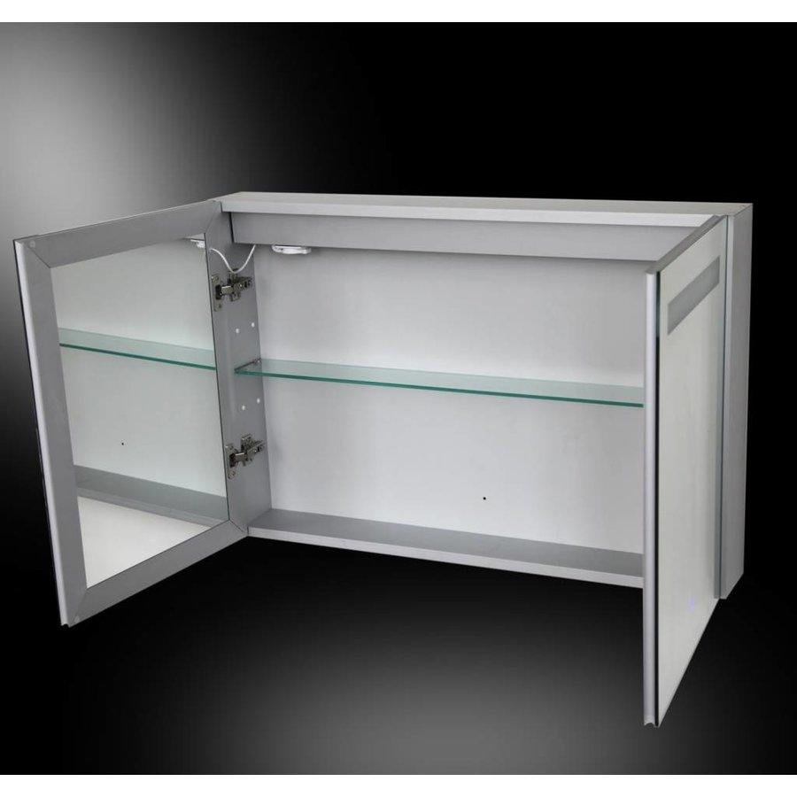 Spiegelkast Aluma Incl. Led Verlichting 90X60Cm