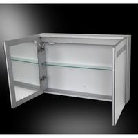 Spiegelkast Aluma Incl. Led Verlichting 80X60Cm