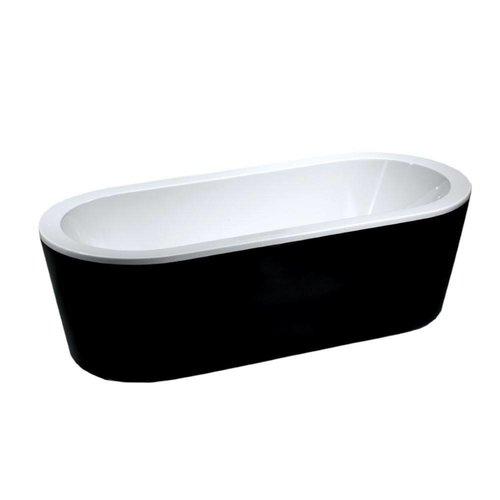 Ligbad Nero Vrijstaand Acryl 178X80 Zwart Wit
