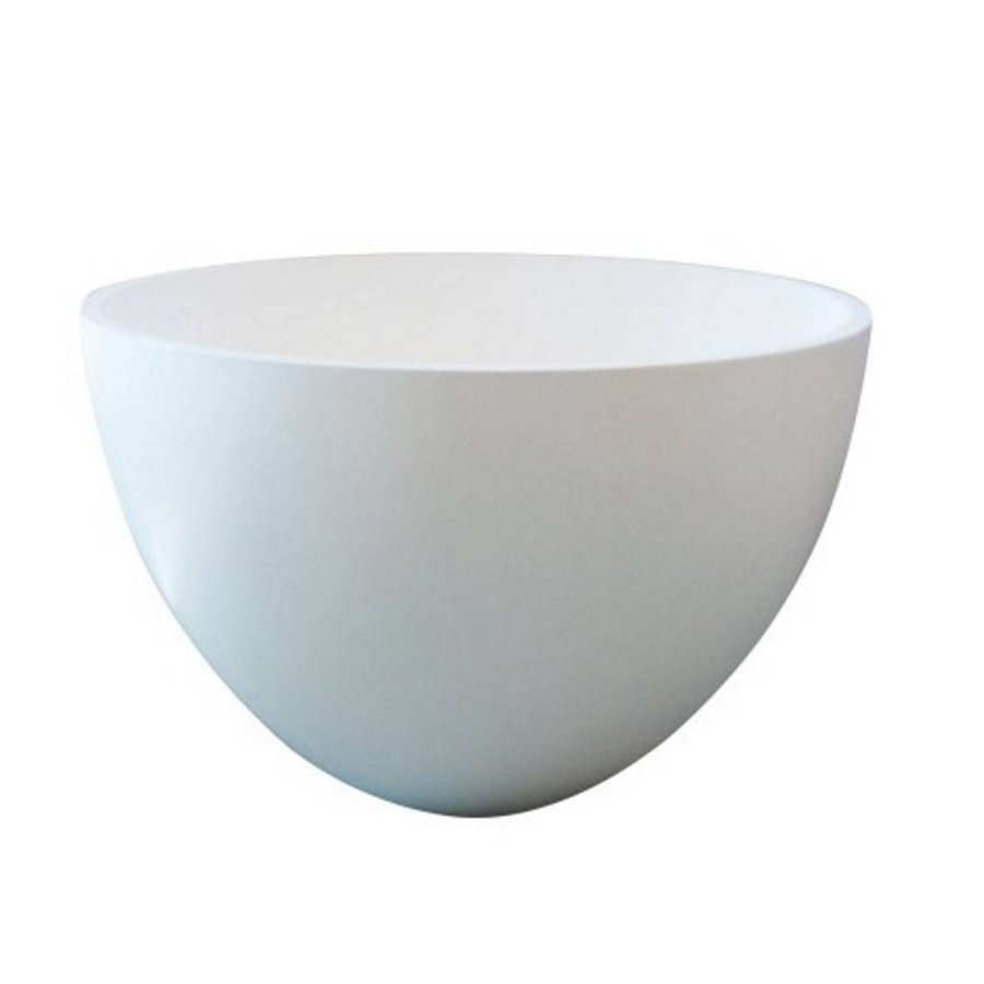 Waskom Just Solid Surface Opbouw Eco 48 Cm Mat Wit
