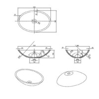 Waskom Epona Opbouw Mat Wit 52 Cm Solid Surface