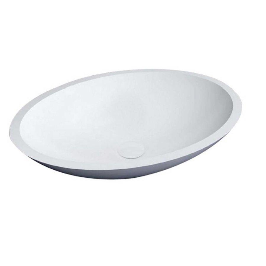 Waskom Epona Opbouw Glans Wit 52 Cm Solid Surface