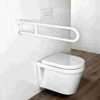 Usis Toilet Hendelgreep Pivoterend Beugelvorm Rvs Wit 70 Cm