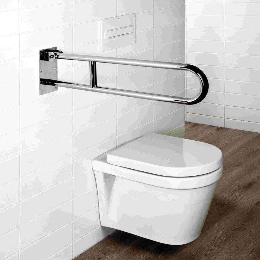 Usis Toilet Hendelgreep Pivoterend Beugelvorm Rvs Chroom 70 Cm