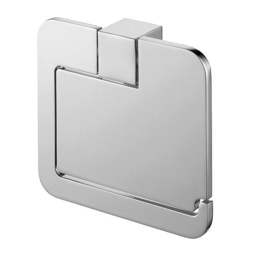 Futura Wc-Papierrolhouder Met Afdekplaat Messing Chroom 14 Cm