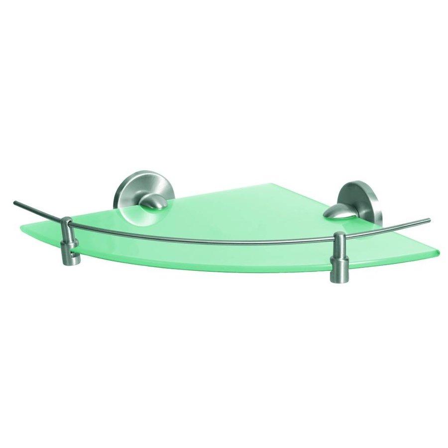Fancy Hoekplanchet Met Mat Glazen Tablet Geborsteld Zamak 33 Cm