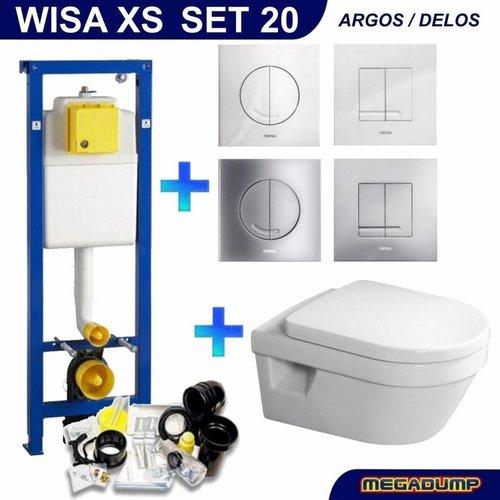 Xs Toiletset 20 Villeroy & Boch Omnia Architectura Direct flush Met Bril En Drukplaat
