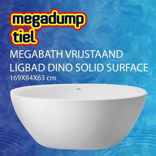 Vrijstaand Ligbad Dino Solid Surface 169X84X63 Cm