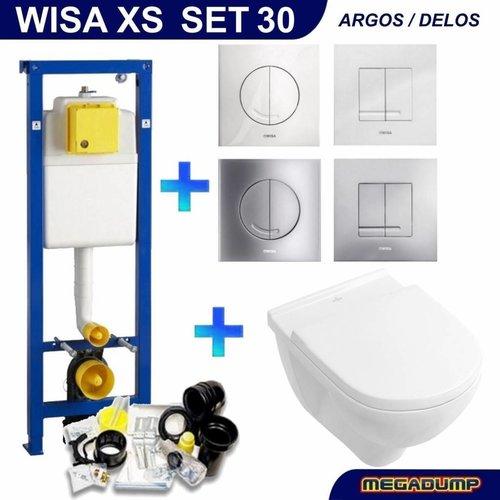 Xs Toiletset 30 Villeroy & Boch O.Novo Direct flush Met Bril En Drukplaat
