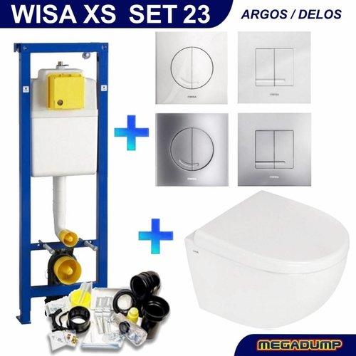 Xs Toiletset 23 Megasplash Zero Compact Met Bril En Drukplaat