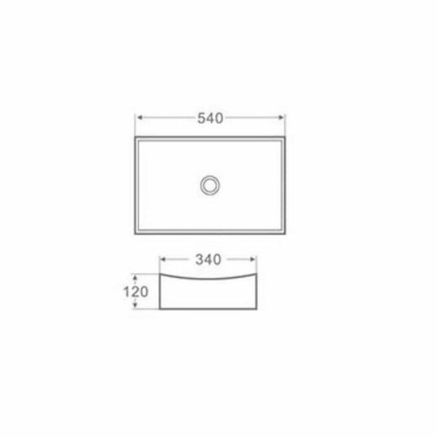 Opbouw Wastafel App 54X32X12 Cm