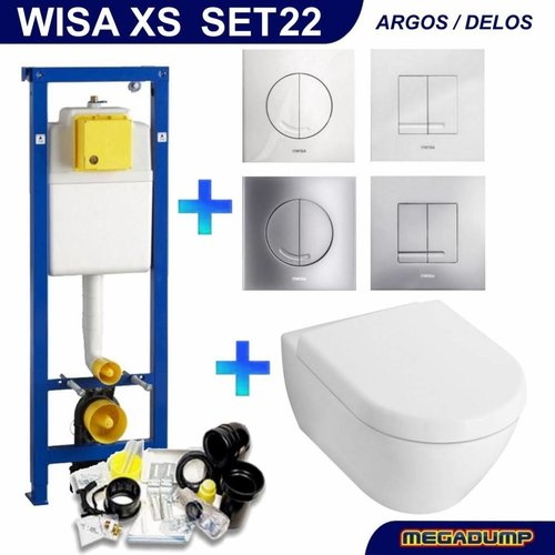 Xs Toiletset 22 V&B Subway 2.0 Met Argos Of Delos Drukplaat