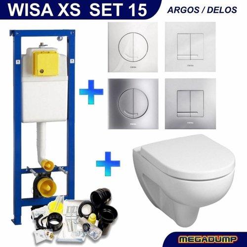 Xs Toiletset 15 Geberit 300 Rimfree Met Argos/Delos Drukplaat