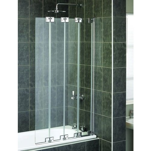 Badwand Aqua 6 4-Fold 85X150Cm 6Mm Veiligheidsglas
