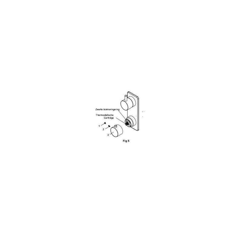 Amon Round Inbouw 2-Wegs Douchethermostaat Rond Chroom