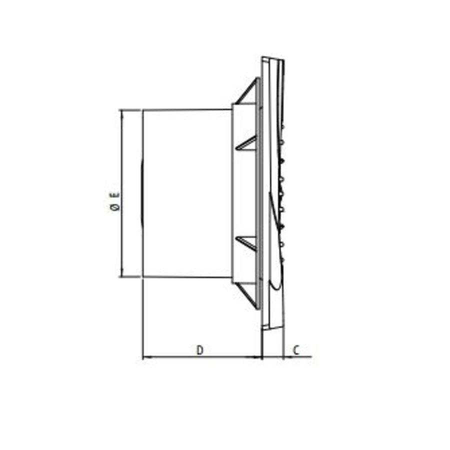 Badkamer Ventilator/Toilet Ventilator 100 Mm Wit