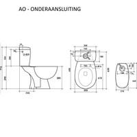 Compleet Toledo Duoblok Staande Toilet Van Keramiek (Ao Of Pk)