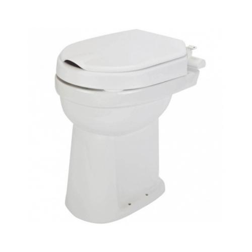 Toiletverhoger Etac Hi-Loo Vastgemonteerd met Deksel 6 cm Wit (draagvermogen tot 150 kg)