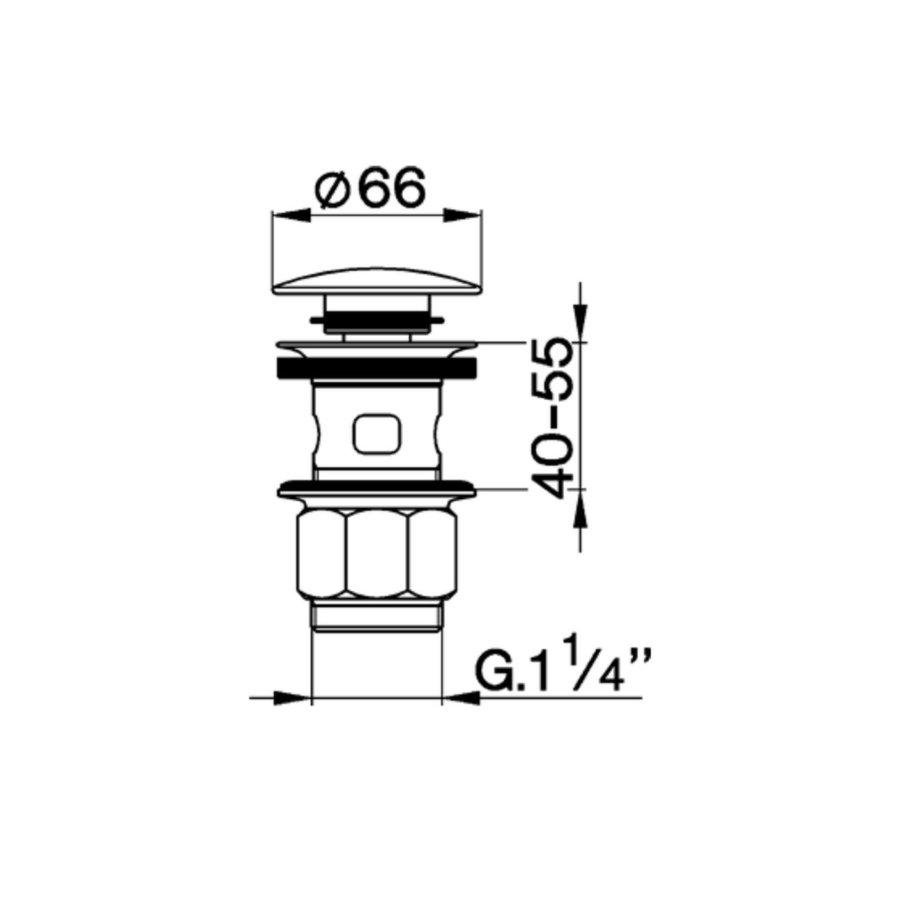 Clickwaste Salenzi Giro Gegalvaniseerd Geborsteld Messing Koper 66 mm