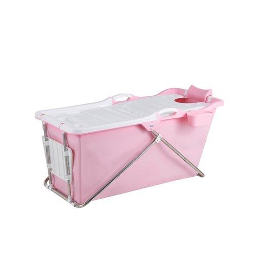 Opvouwbaar Zitbad Bath Bucket 2.0 voor Volwassenen 100x59x57 cm Roze