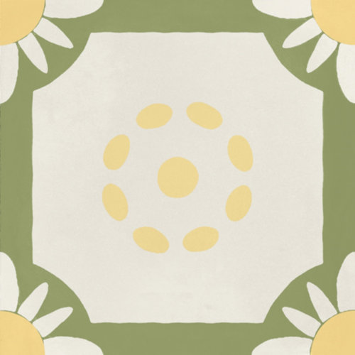 Portugese Vloertegel Jos Hidro Teatime Lime 19.7x19.7 cm Prijs P/m2