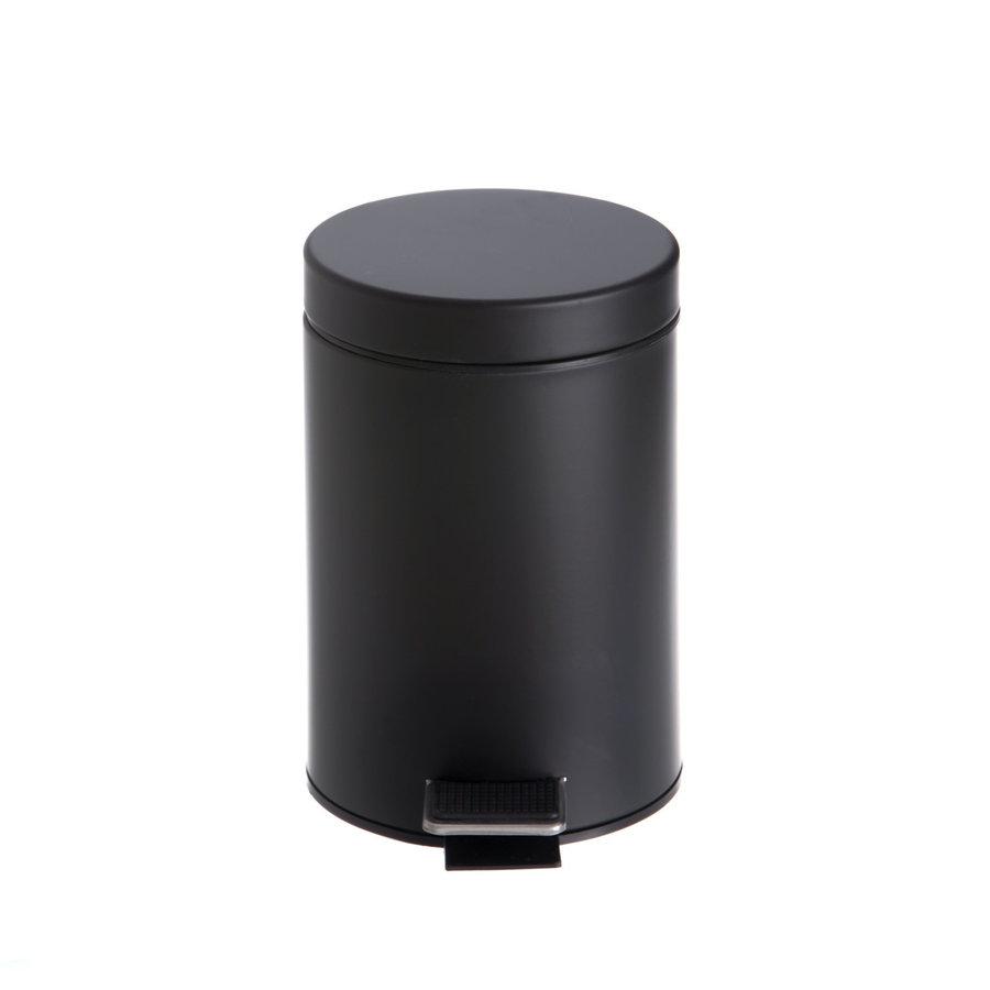 Afvalemmer Vrijstaand Allibert Street 3 Liter 21,5x17x25,5 cm cm Satijn Zwart
