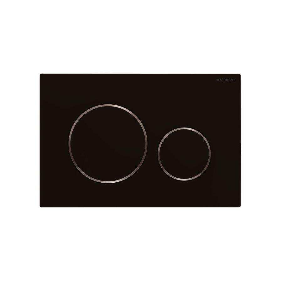 UP320 Toiletset 35 Civita Black Rimless Sigma 20 Mat Zwart  Drukplaat
