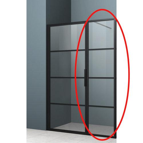 Vast Paneel voor Nisdeur Lacus Tremiti 40x200 cm Mat Zwart Aluminium Profiel
