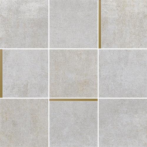 Mozaiek Arcana Avelin Ceniza 30x30 cm Licht Grijs met Goud Detail Prijs P/m2