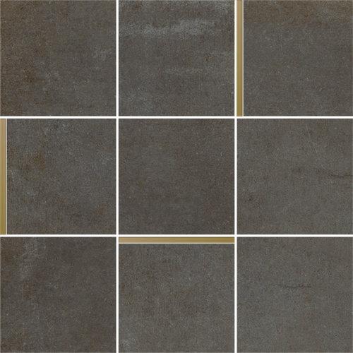 Mozaiek Arcana Avelin Plomo 30x30 cm Antraciet met Goud Detail Prijs P/m2