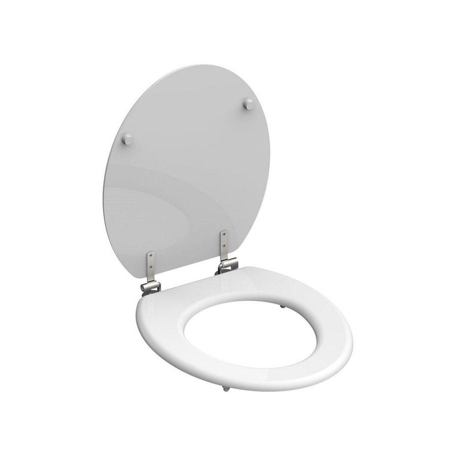 Toiletzitting Schutte White MDF RVS Scharnieren Wit