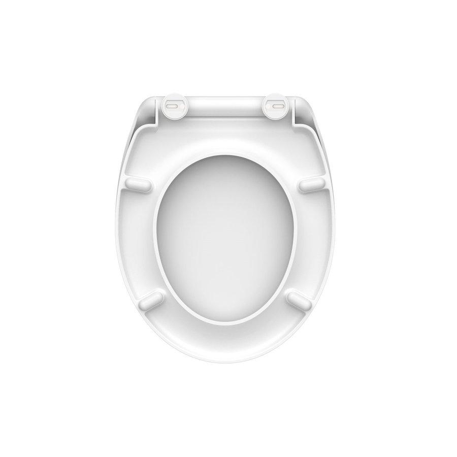 Toiletzitting Schutte White Duroplast Met Soft Close En Quick Release Wit