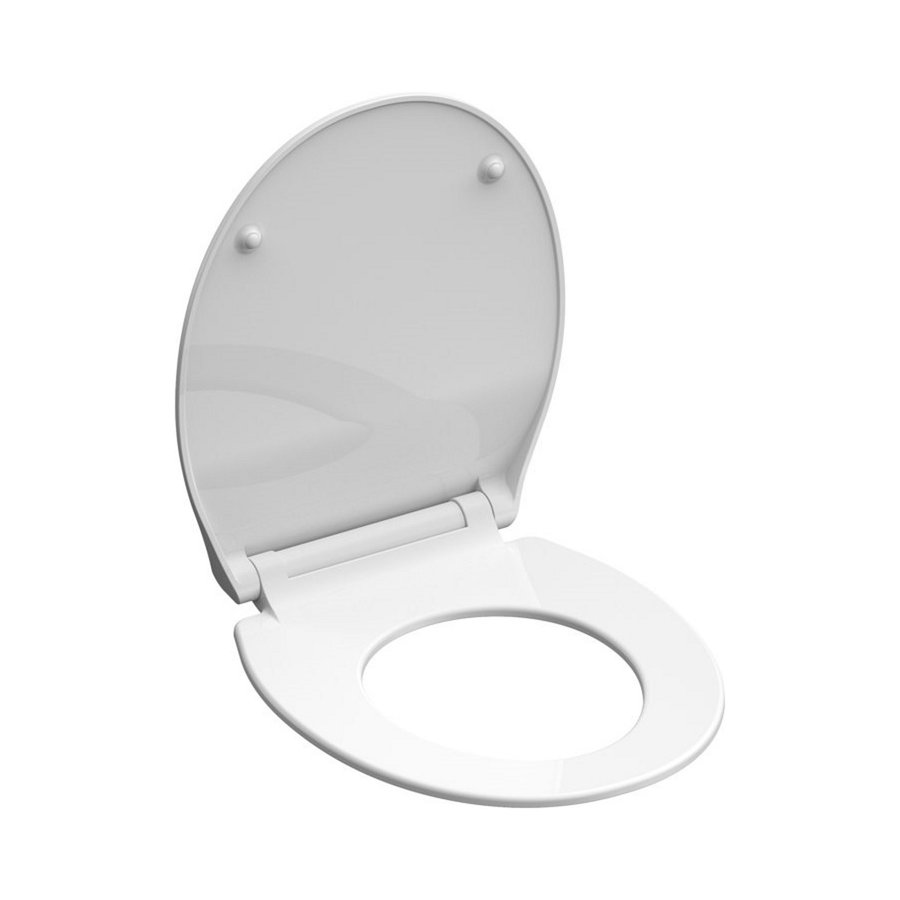 Toiletzitting Schutte Slim White Duroplast Ultra Dun Met Soft Close En Quick Release Gelakt Wit