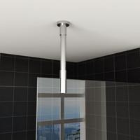 Plafond Stabilisatiestang Wiesbaden Inkortbaar Rond 100cm Mat Zwart