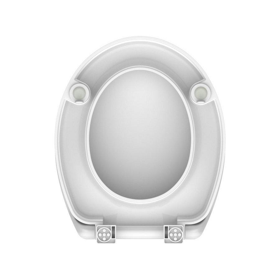 Toiletzitting Schutte Vital Duroplast Met Soft Close En Verhoging Wit